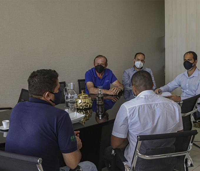 Foto: Reunião ocorreu no Gabinete do Prefeito